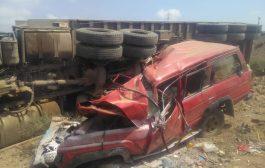 حادث مروري شنيع يؤدي بحياة امرأة وثلاثة اطفال في لحج