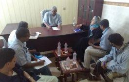 محافظ لحج قائد اللواء 17مشاه يلتقي بمديرة مكتب المفوضية السامية للاجئين بعدن