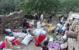 مليشيا الحوثي تهجر(45) أسرة من قرية الكدمة غرب تعز