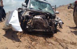 النقيب ديان الشبحي يتعرض لحادث مروري في خط صلاح الدين