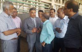 أمين محلي عدن يتفقد أعمال الصيانة بمحطة الحسوة الكهروحرارية