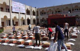 الهلال الاماراتي يواصل توزيع  المساعدات ويغيث ألف أسرة في في مديرية حبيل جبر محافظة لحج