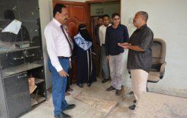 استعدادات لبدء عملية ترميم مبنى فرع وكالة الأنباء اليمنية (سبأ) بعدن