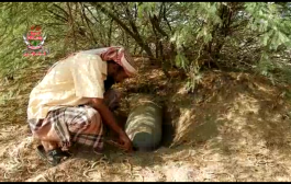 عمالقة الساحل الغربي تعثرعلى صواريخ بحرية اخفتها المليشيات في مزارع بمديرية الحالي
