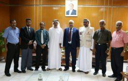 مدير العمليات الانسانية لدولة الامارات يبحث مع قيادة جامعة عدن دعم الانشطة والفعاليات التي تقيمها الجامعة