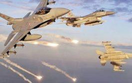 مقاتلات التحالف تدمر منصة صواريخ باليستية ومخزن للاسلحة في بمديرية القناوص بالحديدة