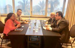 العود يبحث مع أمين رابطة الدول المطلة على المحيط الهندي جوانب الدعم المقدم لليمن