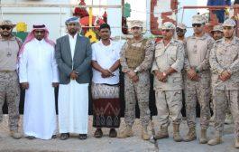 بن عويّض والقحطاني يدشنان دفعة من المشتقات النفطية مقدمة من الحكومة السعودية للمهرة