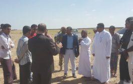 الوكيل العبودي يحدد مع فريق الإعمار السعودي الموقع المقترح لمحطة كهرباء 40 ميجا بمدينة الغيضة