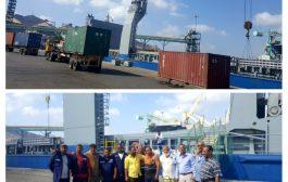 ميناء عدن : افراغ 163حاوية تابعة للغذاء العالمي
