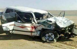 وفاة ثلاثة اشقاء في حادث مروري مؤسف بطريق العبر