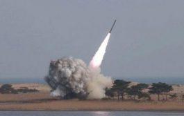 إعتراض صاروخ باليستي في سماء مدينة الدريهمي بالحديدة