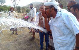 لحج : تدشين ضخ مياه مشروع وادي شعب بطور الباحه