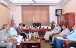 الزبيدي يعقد اجتماعآ لقيادة الأمانة العامة للمجلس الانتقالي ومناقشة اخر المستجدات