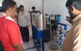 مدير عام مديرية حوف يفتتح أول مصنع لتحلية المياه الصحية بالمديرية ويؤكد دعمه للاستثمار والمستثمرين