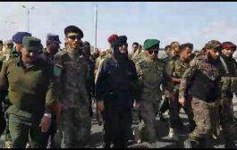 إدارة أمن عدن تدشن العام التدريبي الجديد بمسيرة راجلة لضباط وأفراد مراكز الشرطة
