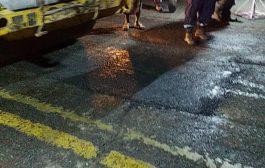 صندوق صيانة الطرق بعدن يواصل تنفيذ أعمال التدخل العاجل لمشروع سفلتت مدرج مطار عدن