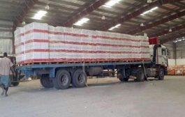 الهلال الأحمر الإماراتي يسير قافلة إغاثة إلى أهالي مديرية أحور