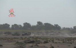 تصعيد حوثي متواصل وقصف مدفعي لمواقع العمالقة في الجبلية ب الحـديدة