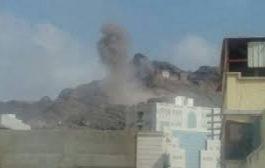 مليشيات الحوثي تفجر منزل احد مشائخ الحشاء