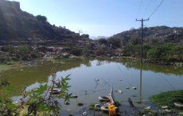 ظاهرة الجفاف في يافع رصد تجبر كثيرا من الأسر على تدوير مياه المجاري للانتفاع بها في المنازل