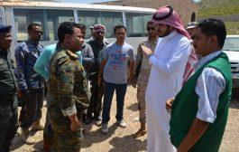 مدير عام شرطة سقطرى يلتقي مندوب البرنامج السعودي لتنمية وإعمار اليمن لدعم المراكز الامنية