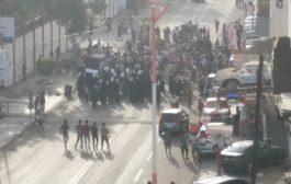 تواصلآ لتداعيات مقتل الشاب دنبع ..قطع طرق بالشيخ عثمان ومسيرة راجلة بالمعلا