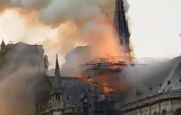 شاهد بالفيديو.. حريق هائل يلتهم العاصمة الفرنسية باريس وترامب يفاجئ العالم بهذا الإعلان الصادم