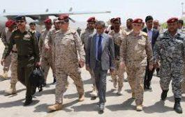 رئيس هيئة أركان الجيش النخعي يصل سيئون التحضيرات الأمنية