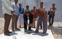 مدير البريقة يفتتح مشروع تقوية ضخ المياه لمنطقة صلاح الدين