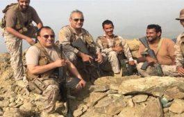 قائد القوات المشتركة للتحالف يزور محور مران ويشيد بالانتصارات الأخيرة