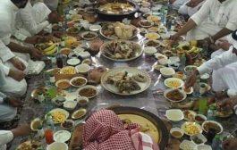 شاهد صورة : مائدة فاخرة للزهاد أولياء الله الصالحين يتصدرهم الزنداني