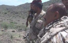 الضالع قائد المنطقة العسكرية الرابعة يزور منطقة القفلة بقعطبة