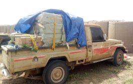لحج : قوات الحزام الأمني تضبط العاب نارية مهربة في غرب المحافظة