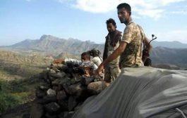 قوات اللواء الخامس دعم واسناد تصد هجوم للميليشيات الحوثيه في جبهه حماله شمالِ شرقي كرش