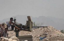 تجدد المواجهات العنيفة في جبهة البرح غرب تعز