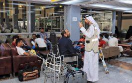 مغادرة 31 جريح للعلاج في الهند على نفقة دولة الإمارات