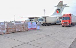 وصول طائرة شحن إماراتية تحمل أطنان من الأدوية والمستلزمات الطبية إلى عدن