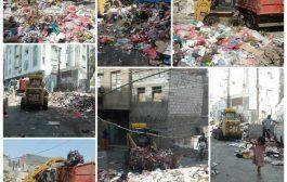 حملات نظافة مكثفة في العاصمةعدن