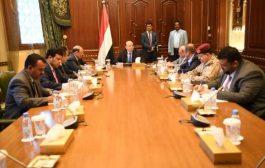 هادي يراس اجتماعا رفيعا لقيادات الدولة ويشكر السعودية