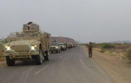شهود عيان: وصول تعزيزات عسكرية قادمة من شبوة إلى أبين