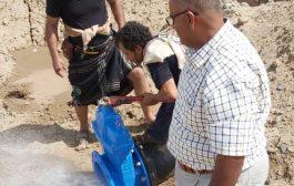 مؤسسة مياه لحج تنهي المرحلة الأولى من مشروع ربط الخطين
