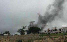 ميليشيا الإخوان تقصف مواقع اللواء 35 في تعز