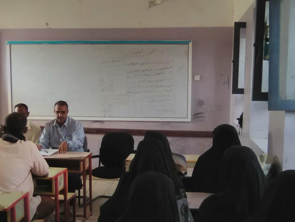 مكتب التربية والتعليم لحج برئاسة الزعوري يستمر في تنفيذ نزولات ميدانية للمدارس