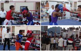 منافسات قوية في بطولة الملاكمة بعدن