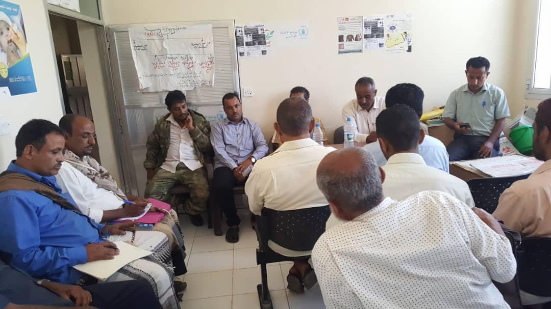 بحضور مدير عام الازارق ورئيس الانتقالي بالمديرية مكتب الصحة يعقد اجتماعا بالمديرية