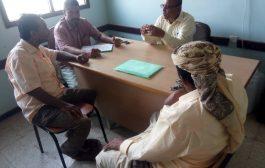شعبة المشاريع والتجهيزات بمكتب التربية والتعليم لحج تعقد إجتماعها الدوري.