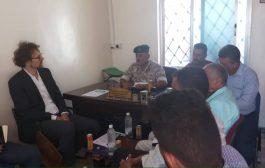 محافظ الضالع يلتقي مدير منظمة زوا الدولية   بالضالع
