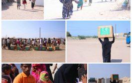 مركز الملك سلمان للإغاثة يواصل توزيع حقائب النظافة الشخصية للنازحين في مخيمات الخوخة