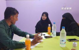 اليوسفي يلتقي بمديرة منظمة mRf لدعم النازحين بأبين